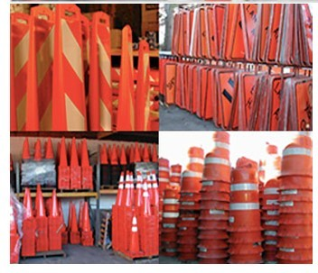 signs barricades